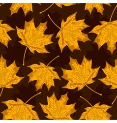 Seamless background with colorful autumn leaves vector image