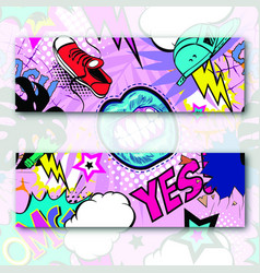 Seamless pattern comic book style vector