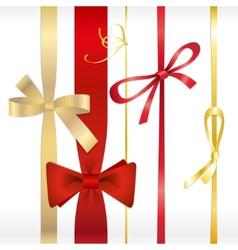 set of ribbons bows vector image