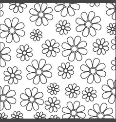 Silhouette sketch decorative pattern flowers vector