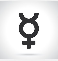 Silhouette transgender mercury symbol vector