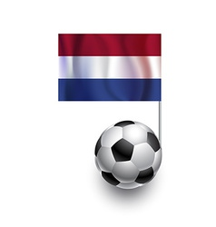 Soccer Balls or Footballs with flag of Netherlands vector image vector image