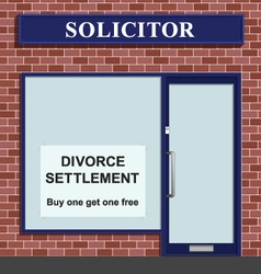 Solicitor divorce settlement offer vector image
