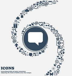 Speech bubble Chat think icon sign in the center vector