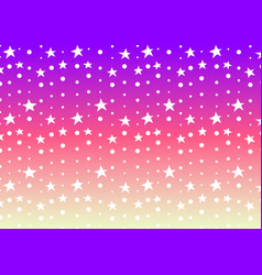 star and dot line purple pink abstract background vector image