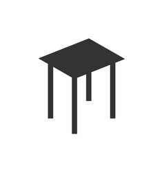 stool icon flat vector image