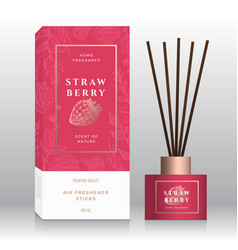 strawberry home fragrance sticks abstract vector image