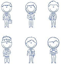 Students boys vector