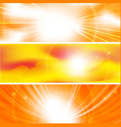 Sun ray banners vector
