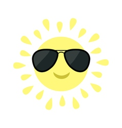 Sun shining icon Sun face with black pilot vector