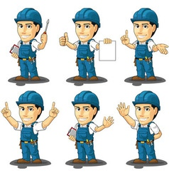 Technician or Repairman Mascot 3 vector image