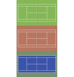 Tennis courts set top view vector