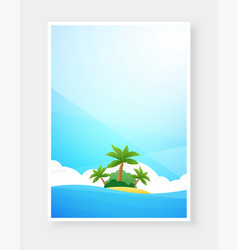 Tropical beach poster with copy space vector