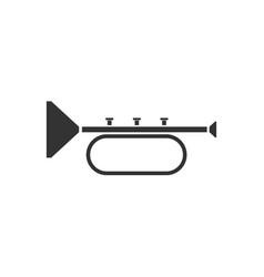trumpet icon flat vector image