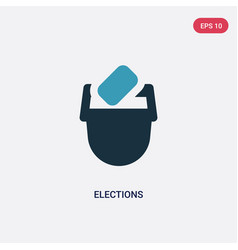 Two color elections icon from user interface vector