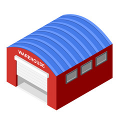 warehouse icon isometric style vector image