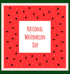 watermelon national day banner frame vector image