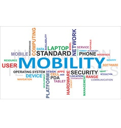 Word cloud mobility vector