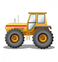Yellow tractor vector