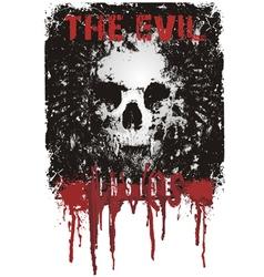 evil lives inside vector image