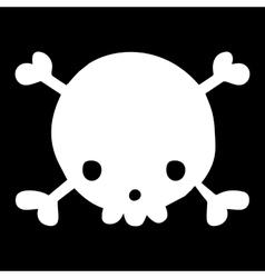 Halloween cartoon funny skull head mascot icon vector image vector image