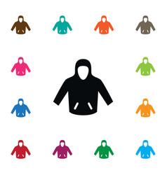 isolated hoodie icon sweatshirt element vector image vector image