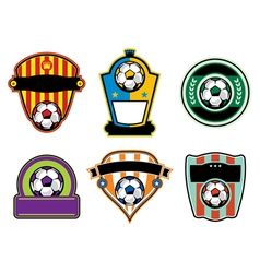 Soccer Football Badges and Emblems vector image vector image