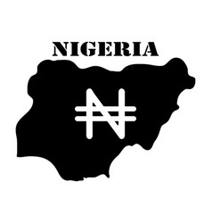 symbol of isle of nigeria and map vector image vector image