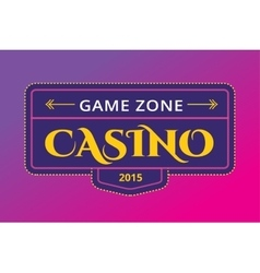 Casino logo icon poker cards or game and money vector image