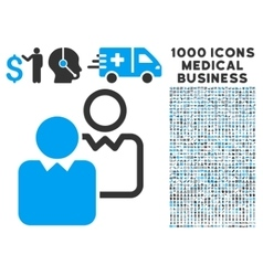 Clients Icon with 1000 Medical Business Symbols vector image vector image
