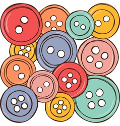 colored buttons vector image vector image