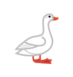 goose or duck flat thin line vector image