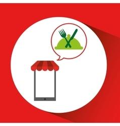 mobile phone shopping organic food gluten free vector image