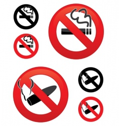 no smoking icons vector image