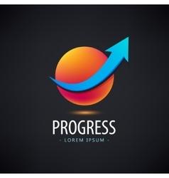 progress logo growth financial and vector image vector image