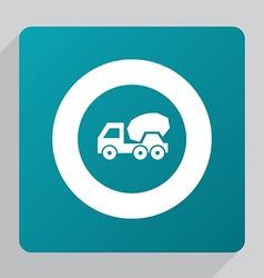 flat concrete mixer icon vector image