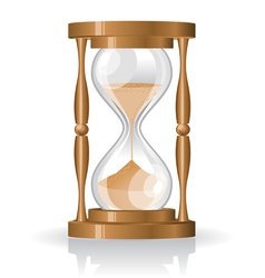 glass sand clock vector image vector image