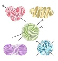 Hand drawn yarn for knitting vector image vector image