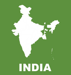 india map on green background flat vector image