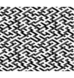 isometric maze with white path and textured black vector image