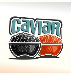 logo of caviar vector image vector image