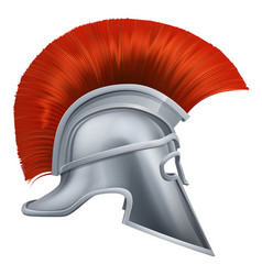 ancient greek warrior helmet vector image