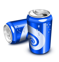 blue soda cans vector image
