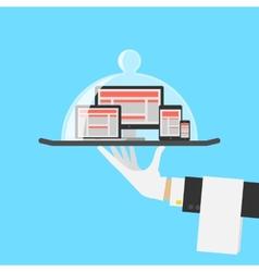 Computer Shop Or Responsive Web Design Service vector image vector image