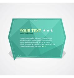 Green text box vector