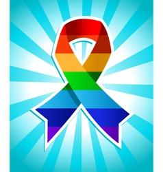 Rainbow Pride Ribbon vector image vector image