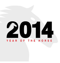 2014 - year horse vector image