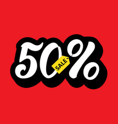 a sale discount 50 percents and volume 3d sale vector image