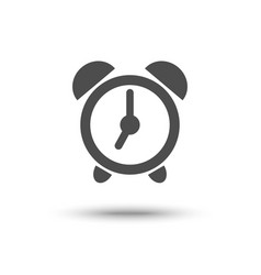 alarm clock iconl isolated vector image