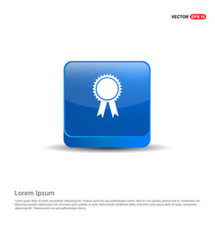 award icon - 3d blue button vector image